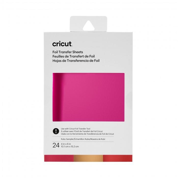 """Cricut Foil Transfer Sampler - 24 Sheets 4 x 6"""" Ruby Sampler"""