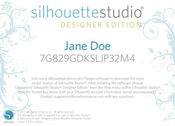 Silhouette Studio Designer Edition Upgrade (Online!)