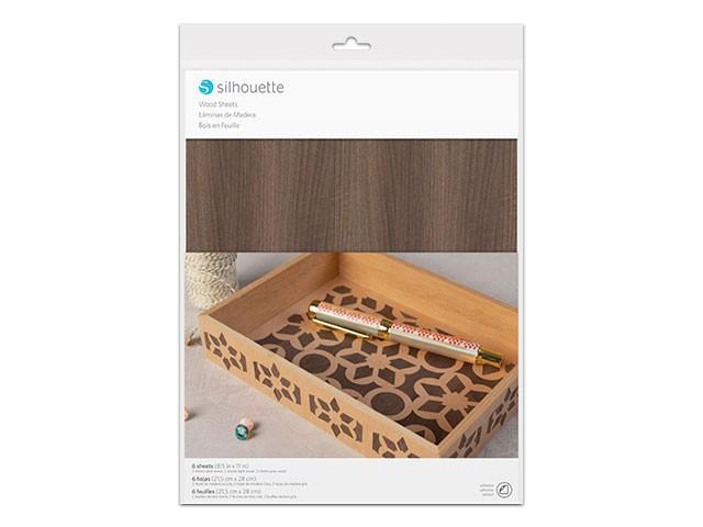 Silhouette Holzpapier sortiert, 6 Blatt