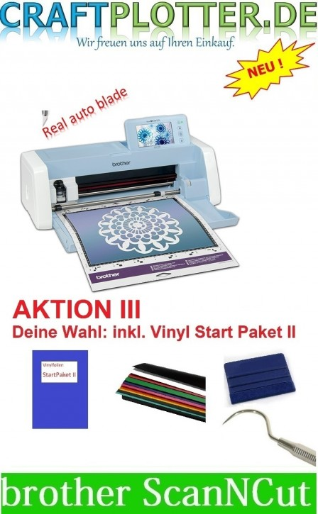 Brother SDX1200 Scan-N-Cut Aktion 3 plus Vinyl StartPaket II
