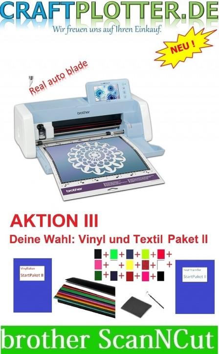 Brother SDX1200 Scan-N-Cut Aktion 3 plus Vinyl und Textil StartPaket II
