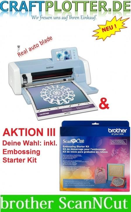 Brother SDX1200 Scan-N-Cut Aktion 3 plus Embossing Starter Kit