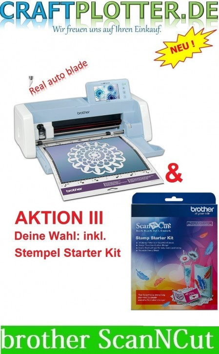 Brother SDX1200 Scan-N-Cut Aktion 3 plus brother Stempel Starter Kit
