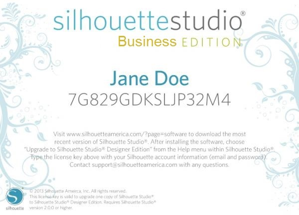 Silhouette Studio Business Edition Upgrade (Online)