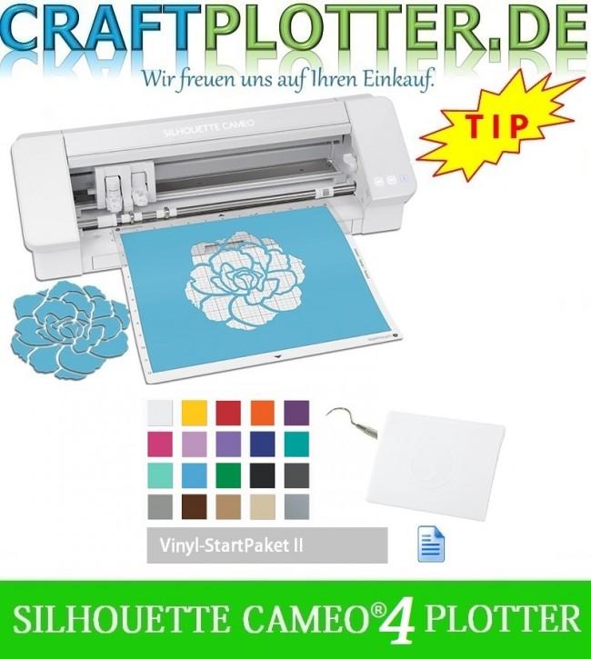 SILHOUETTE CAMEO® 4 AKTION 3 plus Vinyl StartPaket II