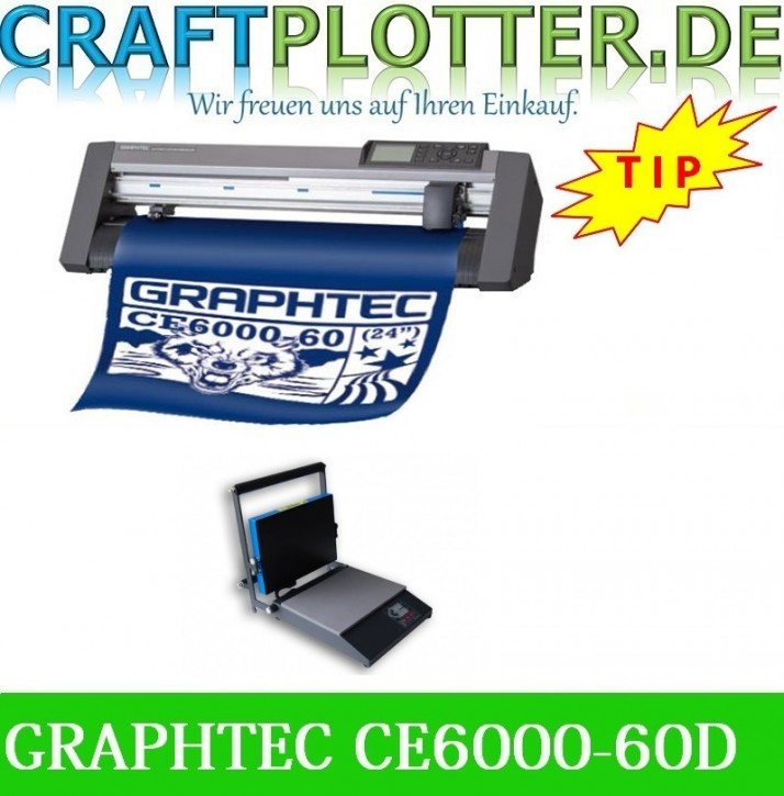 Graphtec CE6000-60 Plus Desktop AKTION plus HOBBYsqueezy Transferpresse
