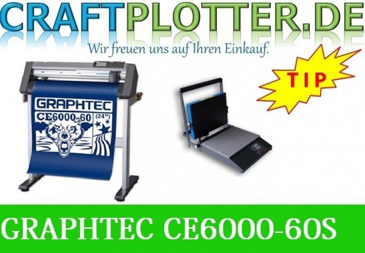 Graphtec CE6000-60 Plus Stand AKTION plus HOBBYsqueezy Transferpresse
