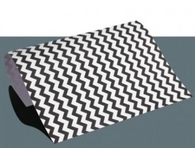 Chevron Flexfolie A4 Big Schwarz