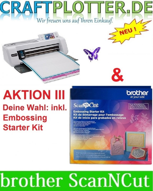 Brother CM300 Scan-N-Cut Aktion 3 Embossing