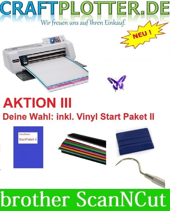 Brother CM300 Scan-N-Cut Aktion 3 Vinyl