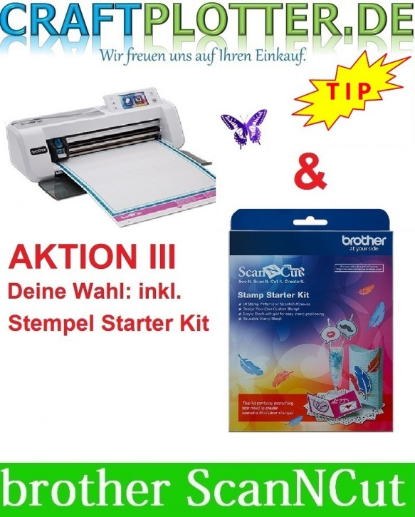Brother CM300 Scan-N-Cut Aktion 3 Stempel