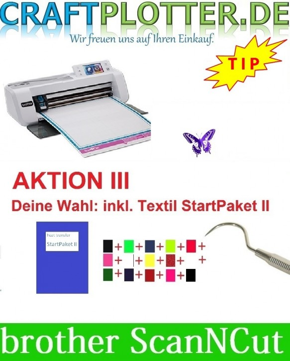 Brother CM300 Scan-N-Cut Aktion 3 Textil