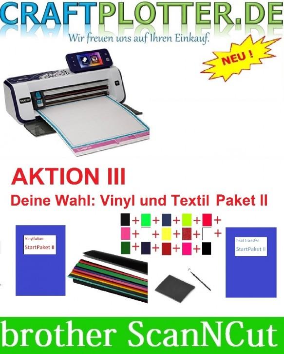 Brother CM900 Scan-N-Cut Aktion 3 Vinyl+Textil