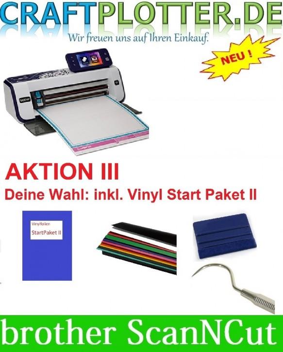Brother CM900 Scan-N-Cut Aktion 3 Vinyl