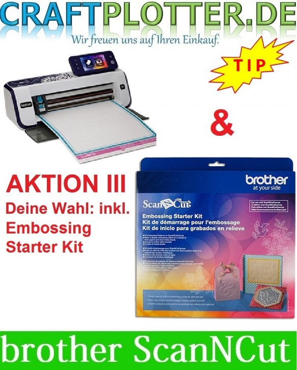 Brother CM900 Scan-N-Cut Aktion 3 Embossing