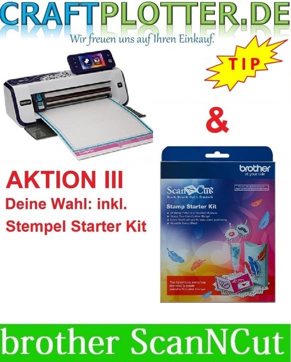 Brother CM900 Scan-N-Cut Aktion 3 Stempel