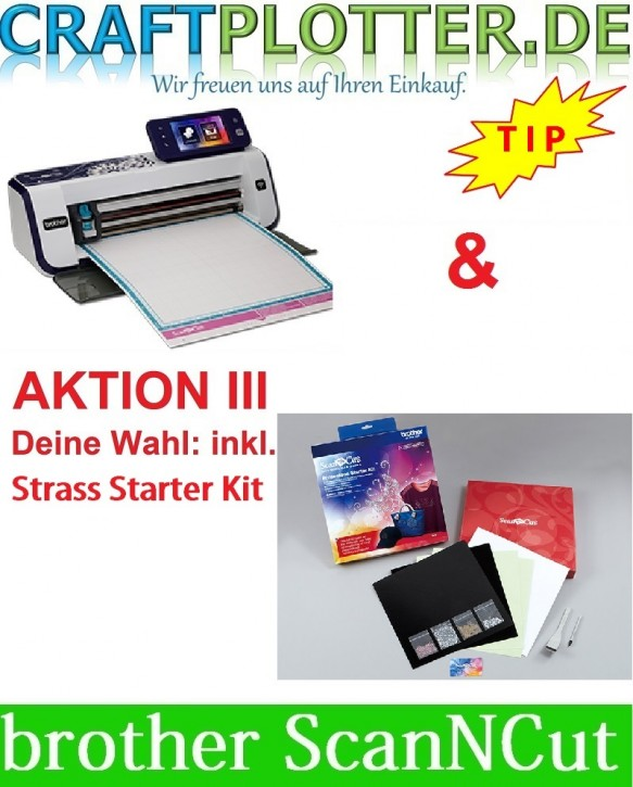 Brother CM900 Scan-N-Cut Aktion 3 Strass