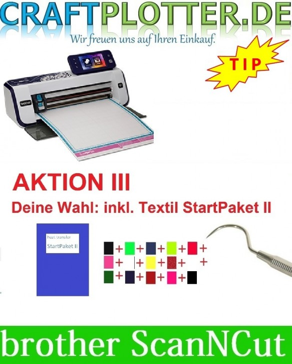 Brother CM900 Scan-N-Cut Aktion 3 Textil