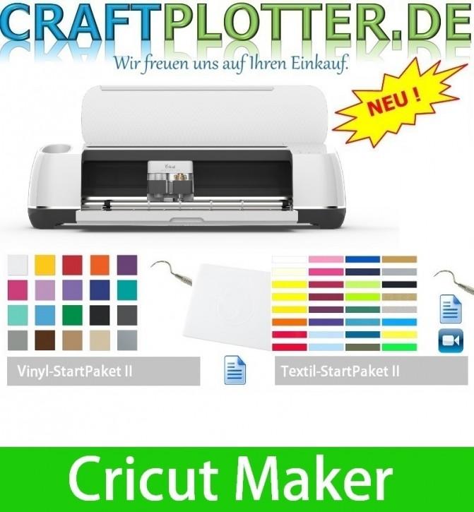 Cricut Maker AKTION 3 plus Vinyl und Textil StartPaket II