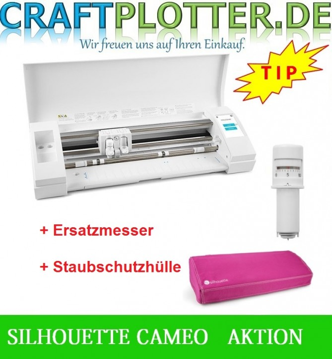SILHOUETTE CAMEO® 3 Schneideplotter Aktion Messer Hülle Pink