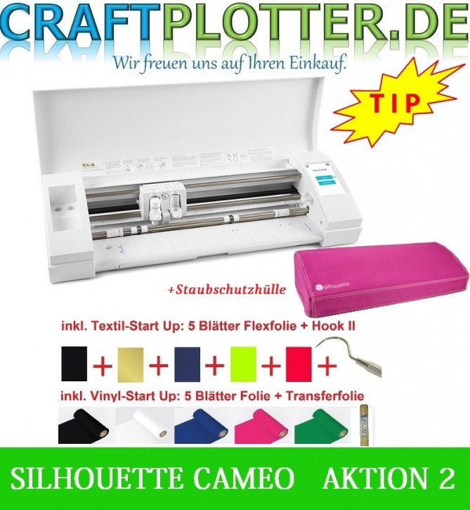 SILHOUETTE CAMEO® 3 Schneideplotter AKTION 2 Hülle Pink