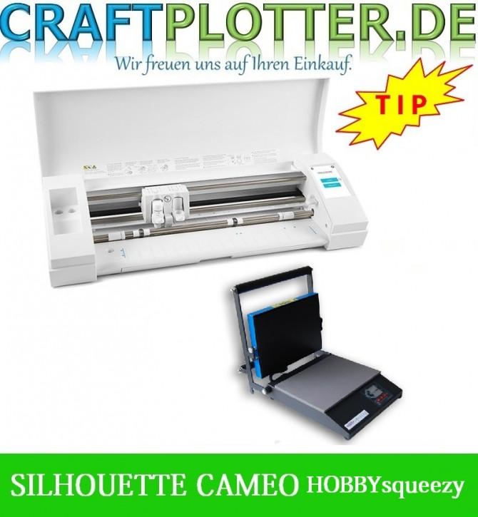 SILHOUETTE CAMEO® 3 Schneideplotter Aktion 3 plus HOBBYsqueezy Transferpresse