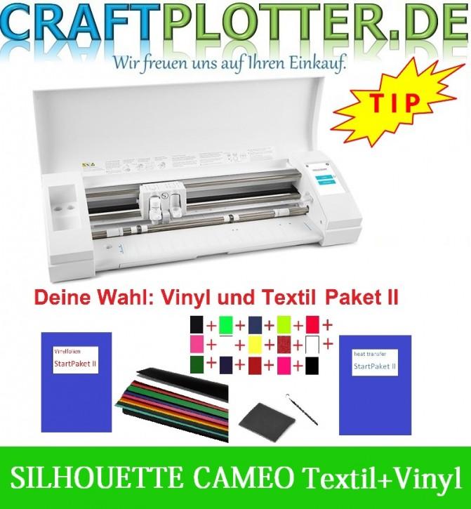 SILHOUETTE CAMEO 3 Schneideplotter Aktion 3 Vinyl+Textil
