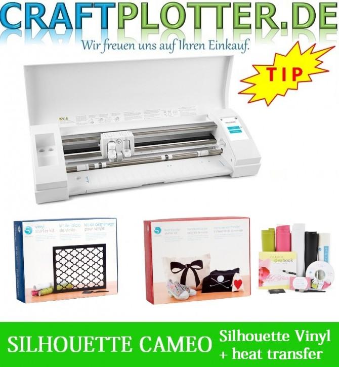 SILHOUETTE CAMEO 3 Aktion 3 Silhouette Vinyl plus Heat Transfer