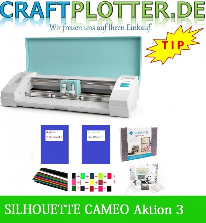 SILHOUETTE CAMEO TEAL AKTION 3