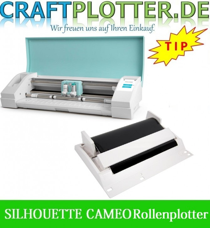 SILHOUETTE CAMEO TEAL AKTION 3 plus Rollenabwickler