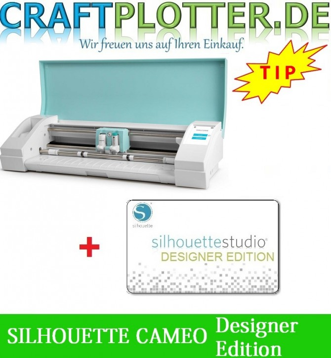 SILHOUETTE CAMEO TEAL AKTION 3 plus DesignerEdition