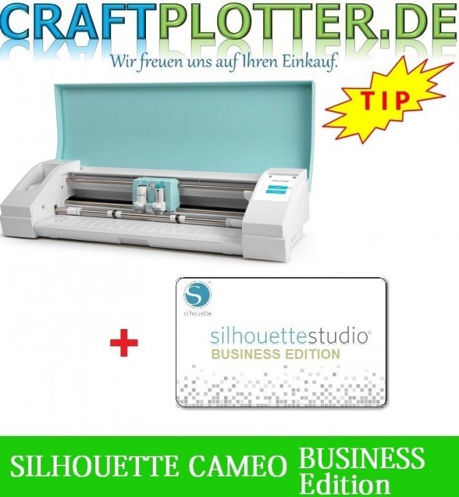 SILHOUETTE CAMEO TEAL AKTION 3 plus Business Edition