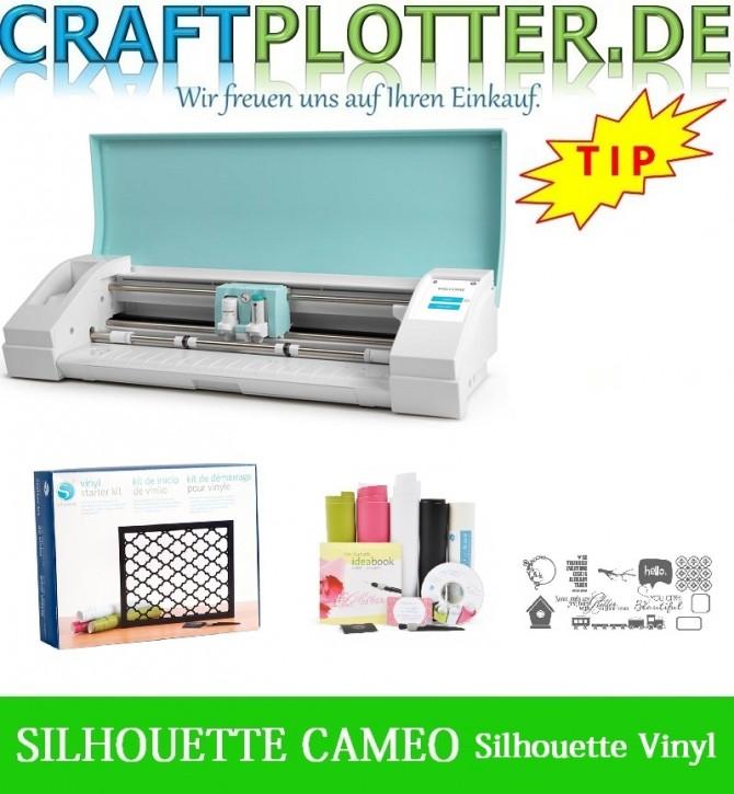 SILHOUETTE CAMEO TEAL AKTION 3 plus SIL Vinyl Starter Kit