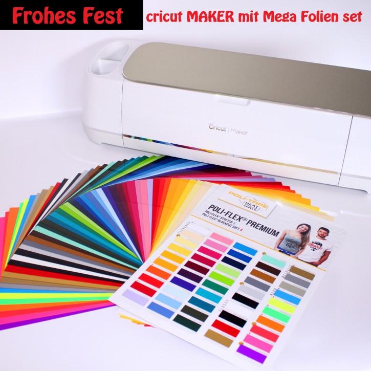 Cricut Maker plus Textil Flexfolien-Set