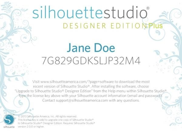 Silhouette Studio Designer Edition Plus Upgrade (Online!)