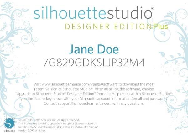 Silhouette Studio Designer Edition Plus Upgrade (Online!)