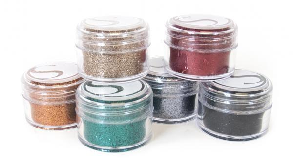 Silhouette Glitzerpulver mit  kräftigen Farben