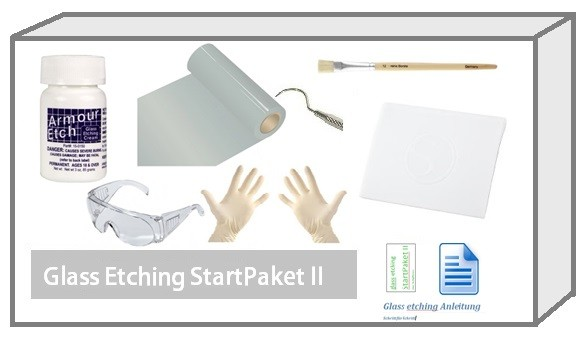 glass etching StartPaket II