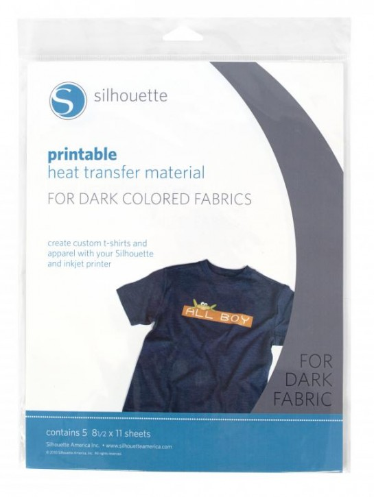 Bedruckbarer Heiß-Transfer für dunkle Textilien 5er Pack