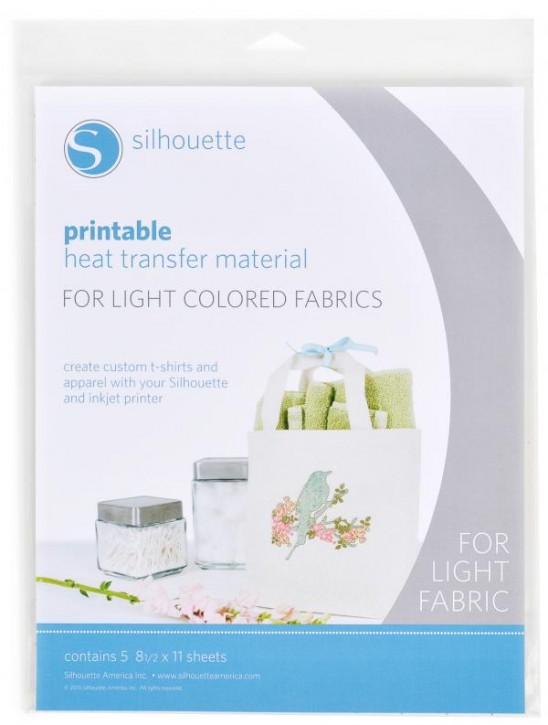 Bedruckbarer Heiß-Transfer für helle Textilien 5er Pack