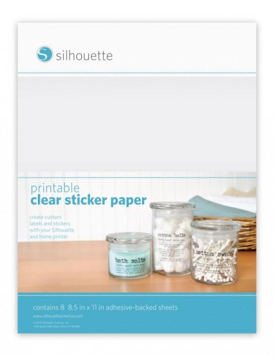 Klares Sticker Folie bedruckbar 8er Pack