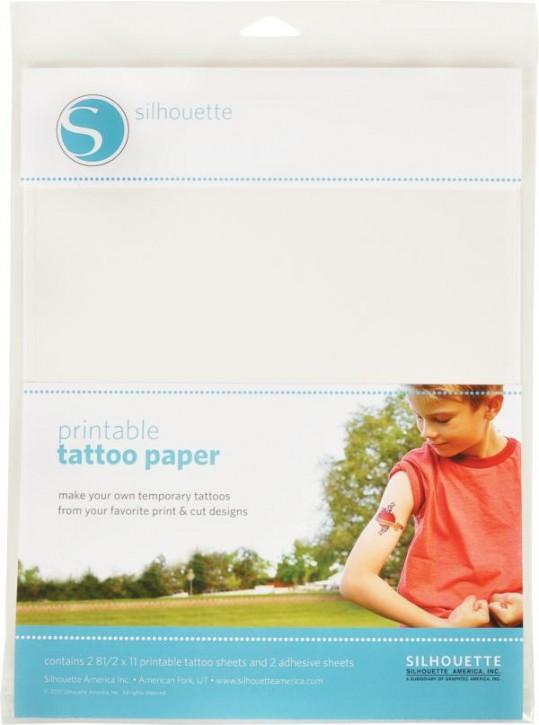 Tattoo Papier bedruckbar 2er Set 21,6 x 27,9 cm