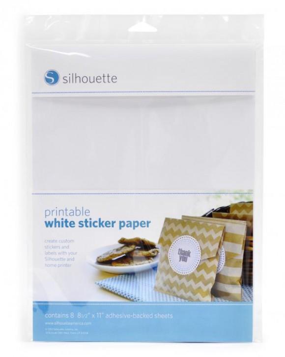 Weißes Sticker Papier bedruckbar 8er Pack