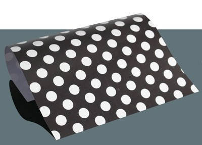 Polka Dots Flexfolie A4 Schwarz