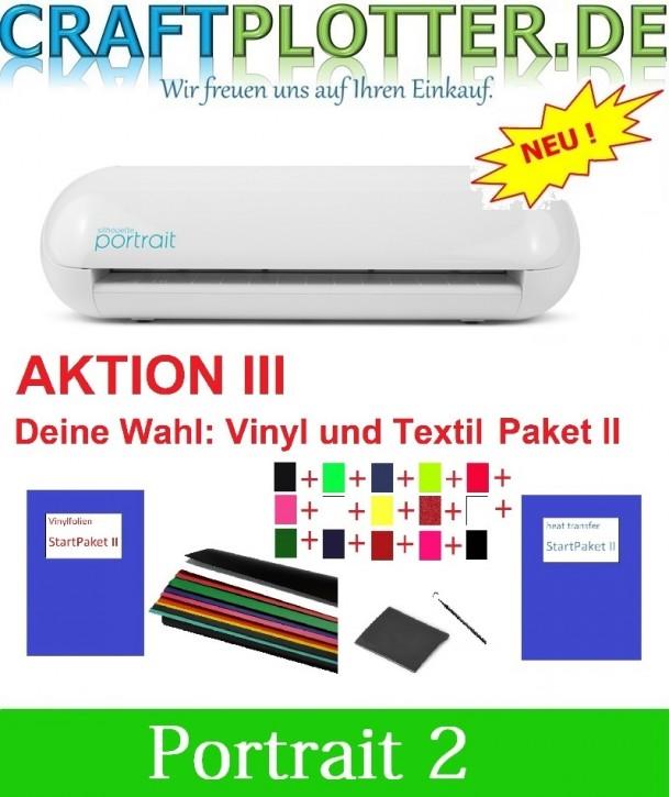 SILHOUETTE PORTRAIT 2 Aktion 3 Vinyl+Textil