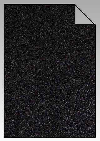 ExtraGlitzer Flexfolie A4 Schwarz