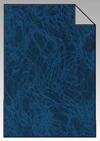 Marmor Flexfolie A4 Blau