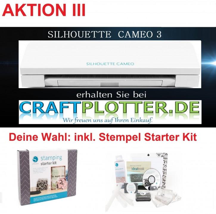 SILHOUETTE CAMEO 3 Schneideplotter Aktion 3 Stempel