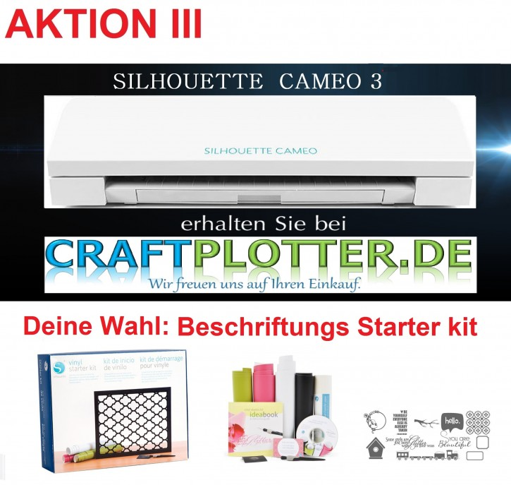 SILHOUETTE CAMEO 3 Aktion 3 Beschriftung