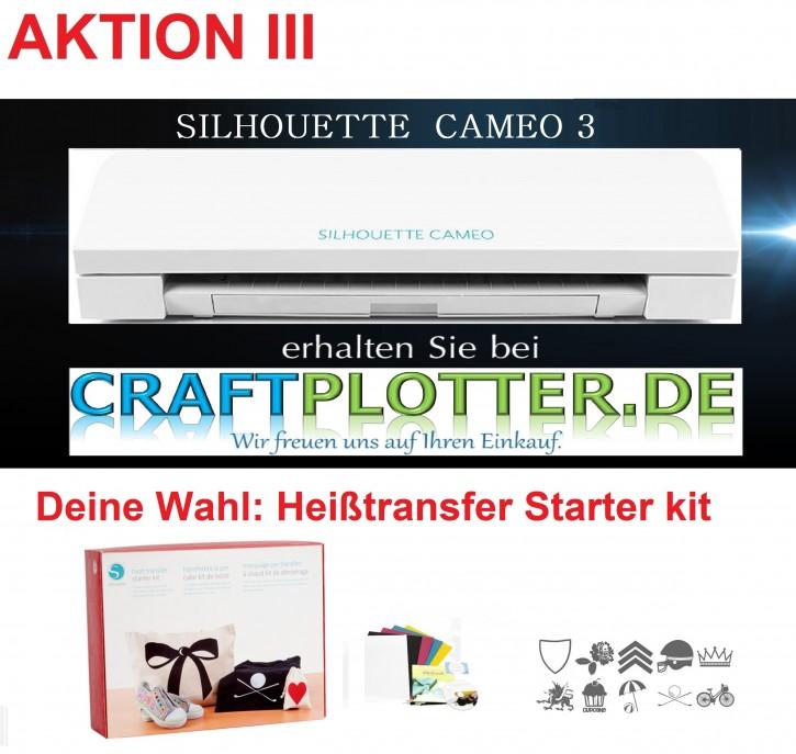 SILHOUETTE CAMEO 3 Aktion 3 Heißtransfer